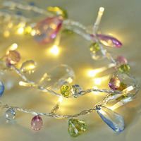 Novelty Colorful White Coffee Crystal Fairy String Fashion Holiday Lighting Wedding Garden Party Christmas Indoor Decoration