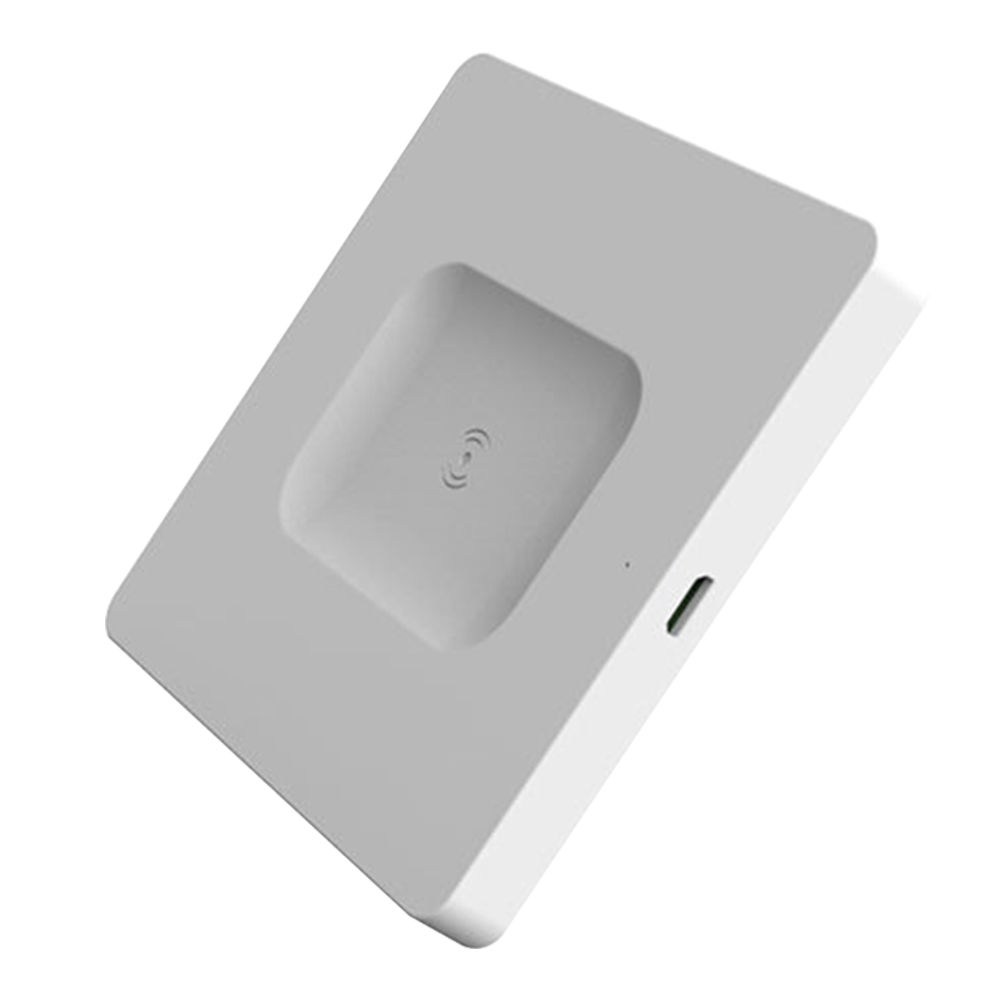 Fashion Accessory Ultra Thin Mobile Phones Wireless Charger Fast Charging Mini Base Office Indicator Light For Apple Earphone