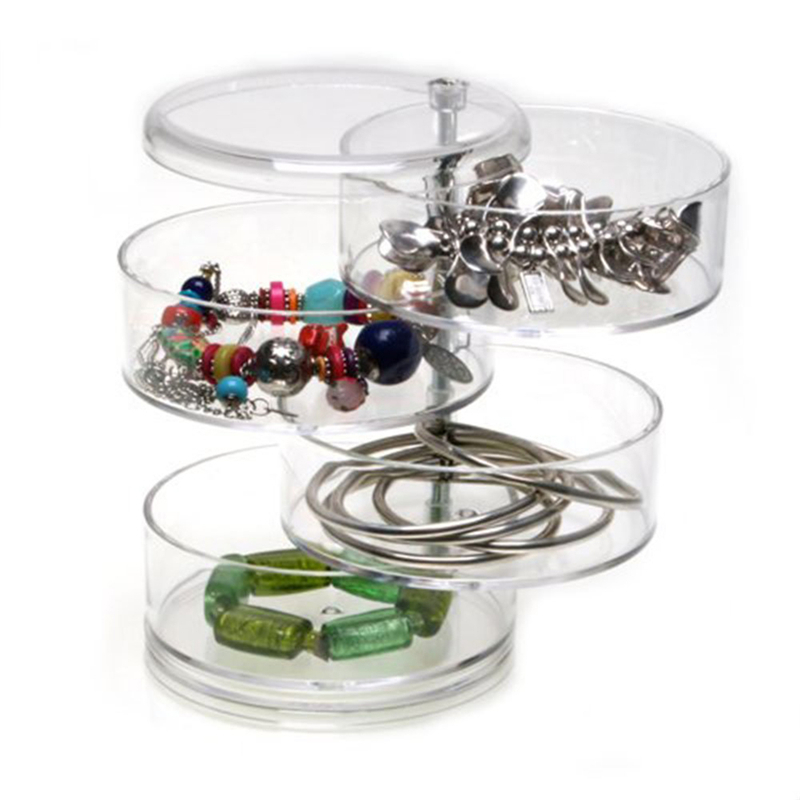 High Quality Cylinder/Heart-shaped Jewelry Storage Box Ring Storage Case With Safety Package