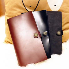 Endless Magic L Large Real Genuine Cowhide Leather Travel Journal Business Notebook Study Diary Blank Lined Grid Papers
