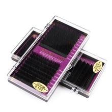 GLAMLASH 16Rows premium classic synthetic mink single eyelash extension custom natural individual false lashes