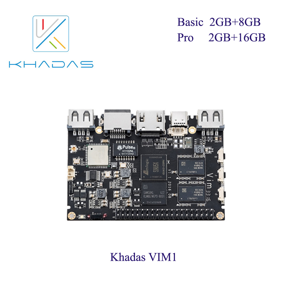 Khadas VIM1 Basic Mother Board Only (2G+8G)-in Demo Board from Computer & Office    1