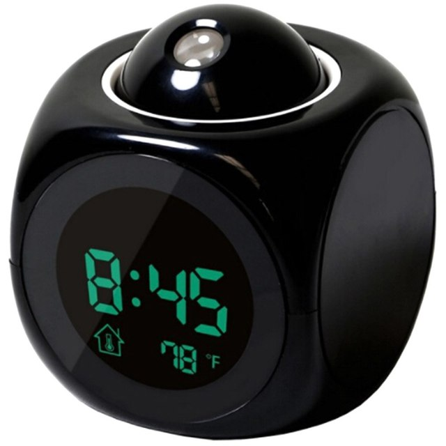 Hot Sale Modern Projection LED Clock Electronic Desktop Alarm Clock Digital Table Clocks Voice Timekeeping Function