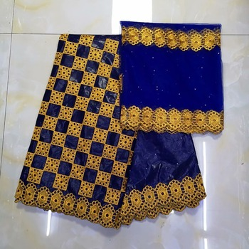 Nigerian lace fabric for women high quality african basin riche getzner cotton guinea brocade fabric 5+2yards/lot   KY32