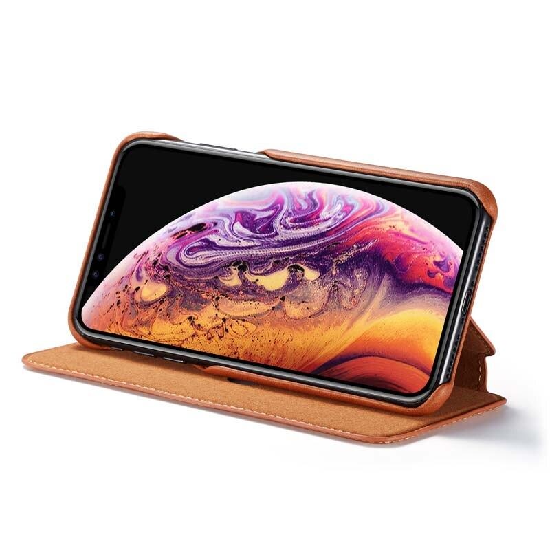HTB1pB6bX2vsK1Rjy0Fiq6zwtXXaS Original Flip Wallet Leather Business Retro Book Design Magnetic For iphone XS Max XR XS X 6 6S 6Plus 7 8 7Plus 8Plus  JS0715