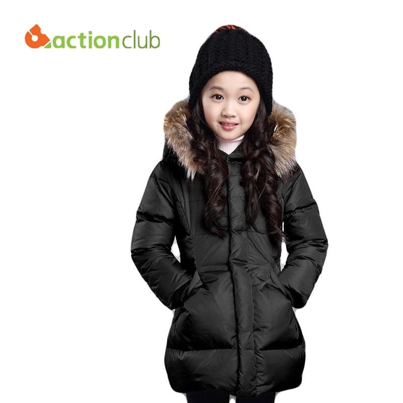 2016 New Winter Jackets For Girl Children Winter Outwear Thicken Long Cotton Coat Girls Jacket ...