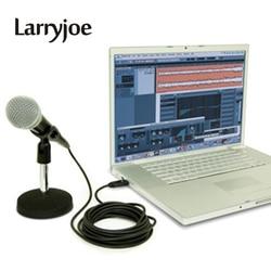 3 Larryjoe Alta Qualidade 3M USB Macho para XLR Fêmea Microfone USB MIC Link Cable Cabo Adaptador Preto