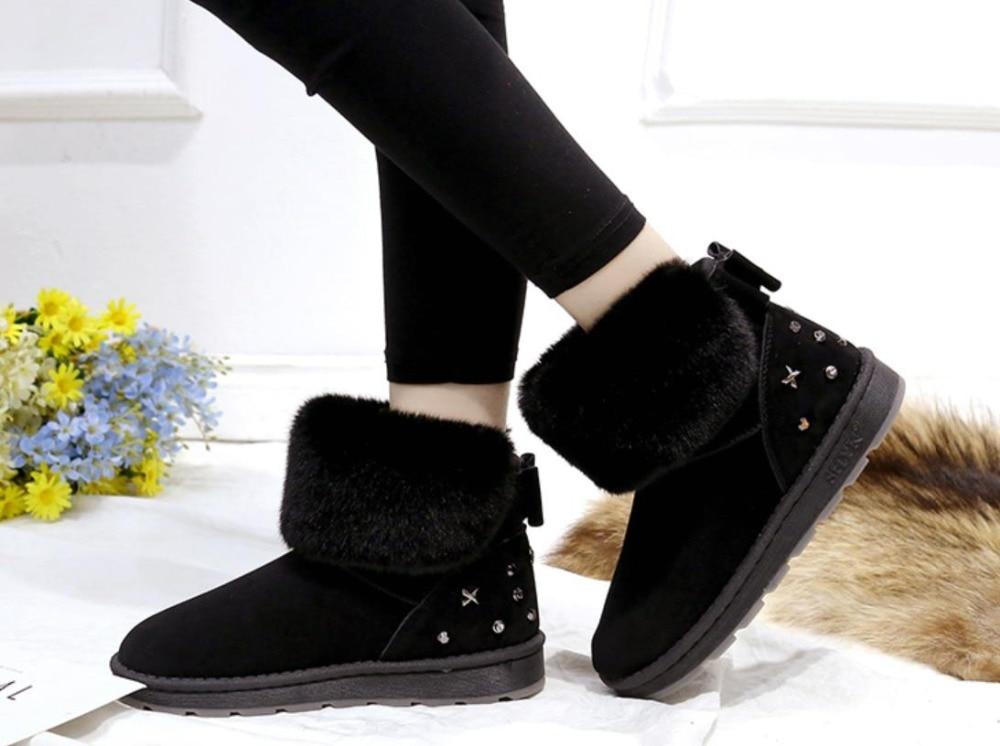 Fondo brown Nuevo La Zapatos Botas Las Nieve Moda gray Para Suela Térmica Grueso Corto Tubo Invierno Mujeres Black De Gruesa 2019 Algodón gxqwRg