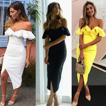 Off Shoulder Women Bandage Dress