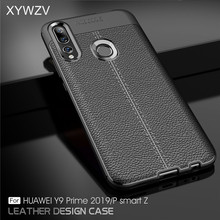 For Huawei P Smart Z Case Luxury PU leather Rubber Soft Silicone Phone Back Cover PSmart