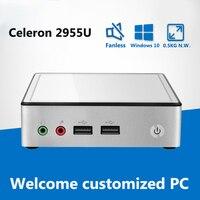 Mini PC Intel Celeron 2955U Dual core 1.40GHz Mini Computer Wifi HDMI USB3.0 Windows 10 Nettop Portable Barebone PC