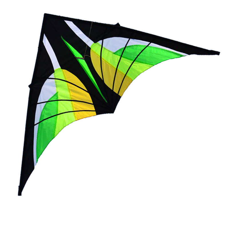 Նոր խաղալիքների տաք 2.8 մ որակյալ ապրանքներ Էլեկտրաէներգիայի կանաչ եռանկյունի / Delta Kite բռնակով և լարային լավ թռչող զուգարաններ