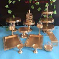 Cake Stand Set 3 Pieces White Cupcake Display Tool For Wedding Cake Candy Plate Party Event