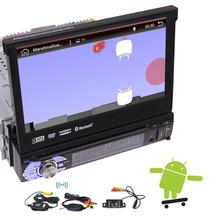 "Wireless Rear Camera + 1Din Android 6.0 quad-core Car DVD Player GPS Navigation Head Unit 7"" 1080P/USB/SD/Wifi Built-in GPS Map"