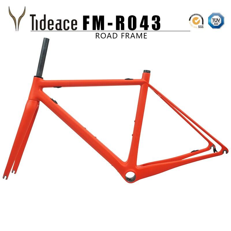 2019 Cheap And Promotion T800 Super Light Di2 Mechanical Carbon Fiber Bike Frameset Bicycle Carbon Road Frame 48/51/54cm