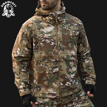 SINAIRSOFT 2019 Hunting clothes Outdoor Shark Skin Tactical millitary Softshell Jacket Suit Men Waterproof Combat