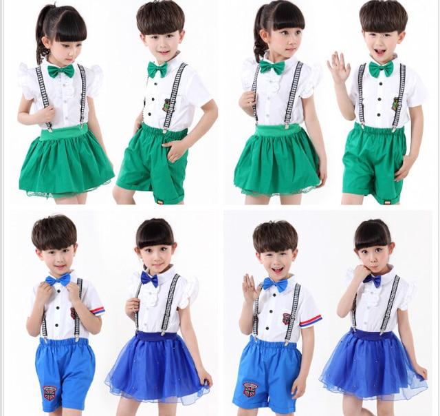 9ad27fe9450b Children Summer Age 2 to 13 Boys Girls Kids School Uniform -in ...