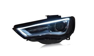 Image 2 - רכב פגוש פנס Audl A3 פנס 2014 ~ 2016y LED DRL אביזרי רכב HID קסנון קדמי אור A3 ערפל