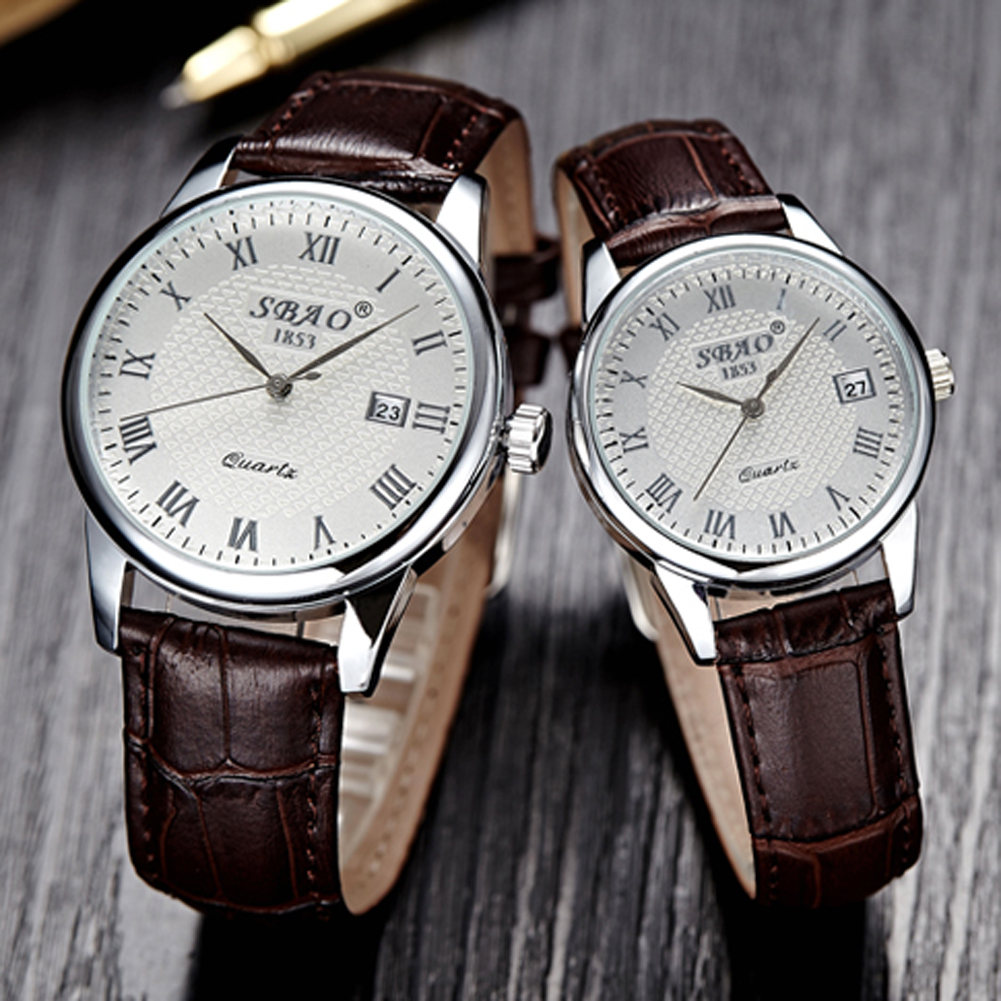 Rotating Moment 2017 New Brand Quartz Watch lovers Watches Women Men Dress Watches Leather Dress Wristwatches Fashion Casual Watches Silver