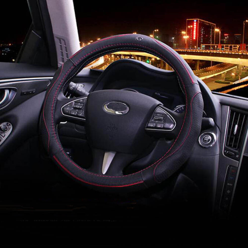 steering wheel leather case sticker trim cover For Infiniti QX60 JX35 Q50 Q70 QX30 QX50 QX70 Q50L Interior Accessories