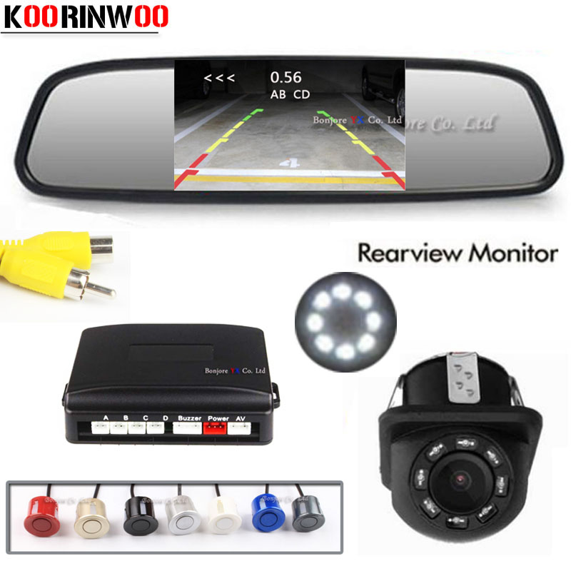 Automobiles & Motorcycles 2019 New Style Koorinwoo Parktronic 2.4g Wireless Car Parking Sensor 4 Radars Alert System Rear View Monitor Mirror Car Camera Assist Reversing Car Electronics