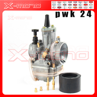 Motorcycle for koso pwk carburetor Carburador 24 mm with power jet fit on racing motor Free shipping