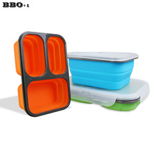 Portable Cute Mini Japanese Bento Lunch Boxs Set Thermal Silicone Lunch Boxs For Kids Picnic Food Container For Food Storage