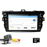 Hizpo 8 ''Car Audio DVD плеер для TOYOTA Corolla 2007 2008 2009 2010 2011 Навигация USB 3g EQ сабвуфер HDTV DVR Бесплатная Камера