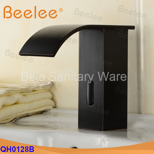Hot Sale+Oil Rubbed Bronze Infrared Automatic Sensor Faucet Mixer Tap for Bathroom (QH0128BR)