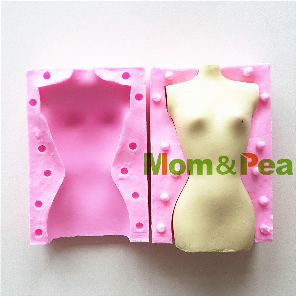 Mom&Pea MPA1660 Female Body Shaped Silicone Mold Cake Decoration Fondant Cake 3D Mold Food Grade|cake 3d molds|fondant cake|silicone mold - title=