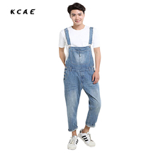 Men's plus size XS-5XL pocket overalls men jeans Fashion denim jeans for lovers Loose jumpsuits male brand pants high quality