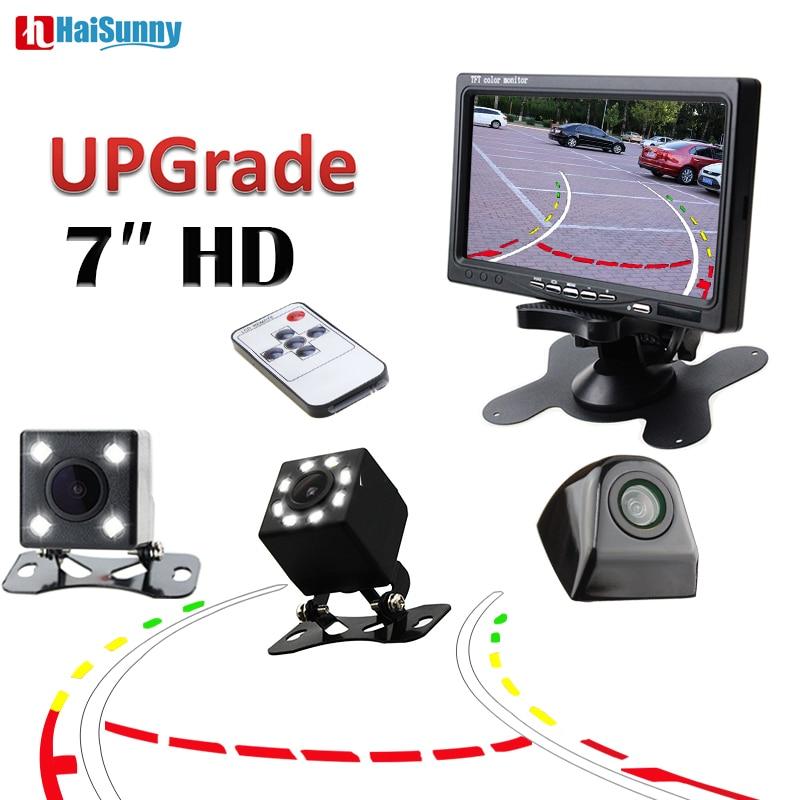 HaiSunny Auto auto Parkplatz Assistent Monitor System 7 zoll Video-Player Mit Nachtsicht Parkplatz Reverse Kamera Dynamische Linie