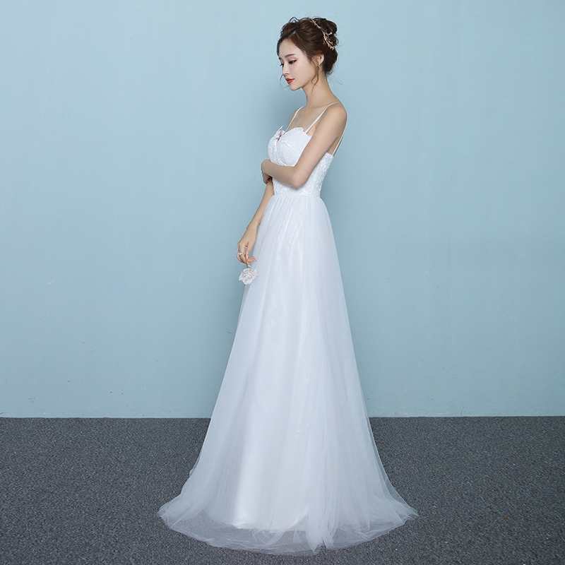 It\'s Yiiya 2017 Summer New Off White Sleeveless Sweetheart Wedding ...