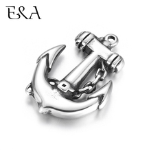 Stainless Steel Anchor Pendant High Polishing Charms DIY Necklace Bracelet Making Findings Jewelry Supplies Wholesale