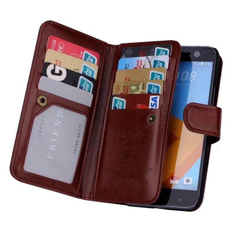 bilder für Multifunktionale Tasche Etui Für HTC EINS M10/HTC 10 Brieftasche Pu-leder Abnehmbare Handytasche Fall Für HTC M10/10 Flip-Cover