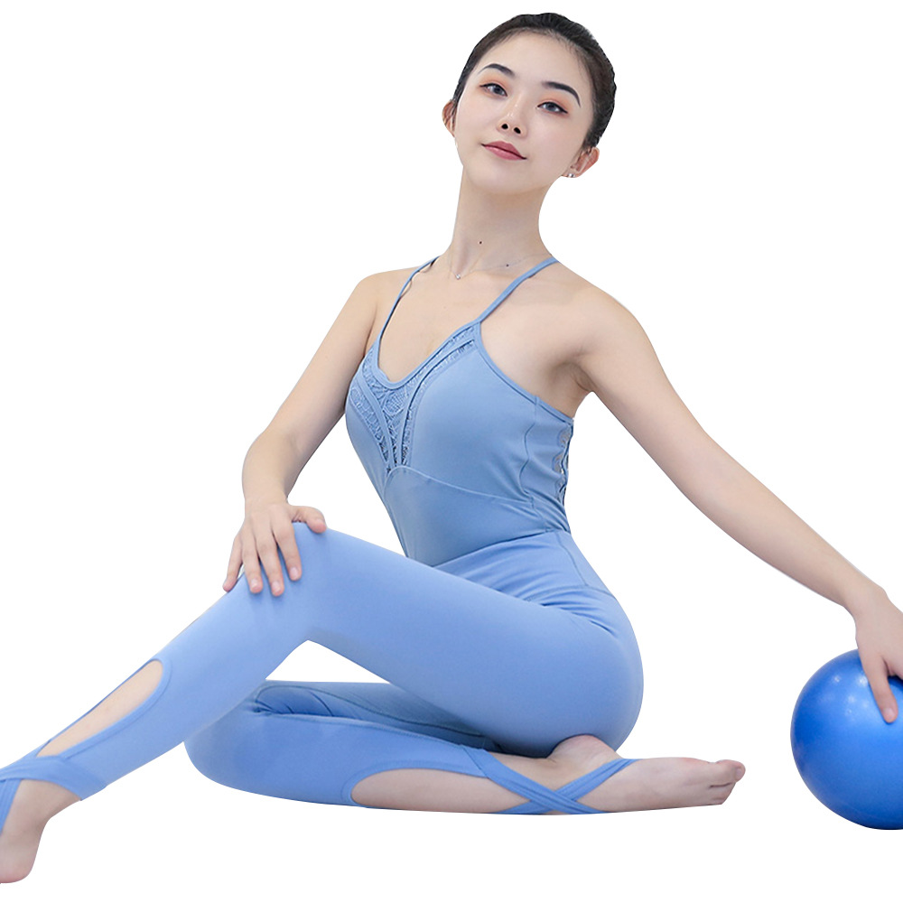 VSEMLEING Ballet Dance Dress One Piece Suit Performance Clothing Fitness Tight Yoga Sets Beauty Jumpsuit Fitness Suit