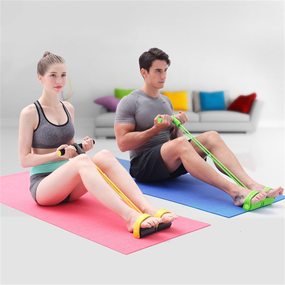 Fitness Resistance Band Rope Tube Elastic Exercise Equipment for Yoga Pilates Workout Latex Tube Pull Rope Hot Sale
