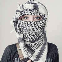 100% Cotton Arab Keffiyeh Shemagh Scarf Military Men Winter Military Windproof Scarves Thickened Square Women Scarves