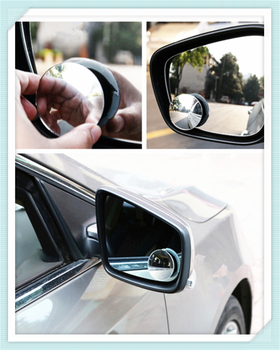 Car borderless small round blind spot mirror reversing aid for Ford Transit Ranger Mustang Ka Fusion Focus F-150 image