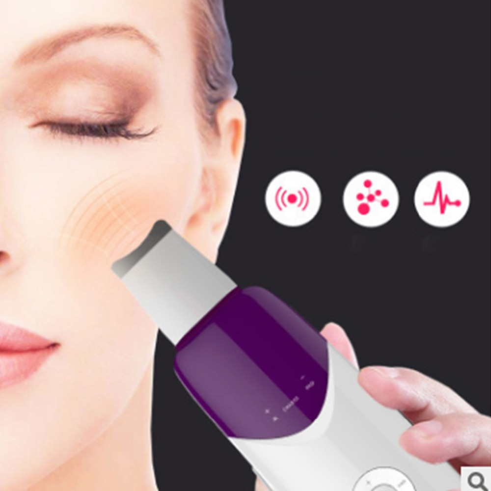 Skin Scrubber Ultrasound Facial Pore Cleaner Anion Ultrasonic Face Skin Peeling Lifting Massager Ultrasonic Facial Scrubber portable skin scrubber ultrasonic massager ultrasound facial peeling cleaner au plug