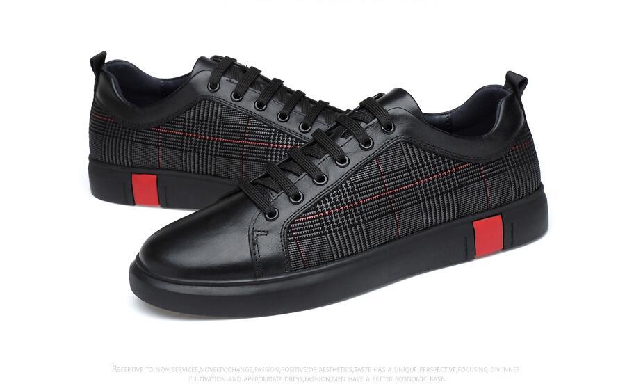 Couro Homens Das 46 Size Grife Genuíno Preto Sapatos 2019 Original De Plus 36 Sapatilhas Luxo Outono wBgIBrq