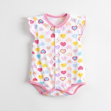 Summer Strawberry Baby Rompers Floral Print