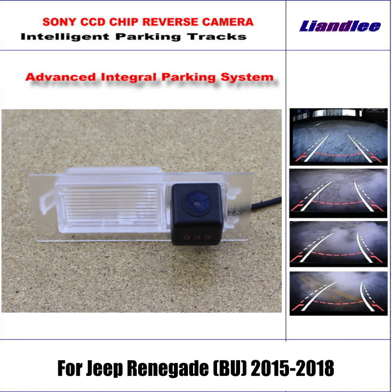 Rear Camera For Jeep Renegade BU 2015 2018 Parking Tracks Backup Reverse Lines Dynamic Guidance Tragectory