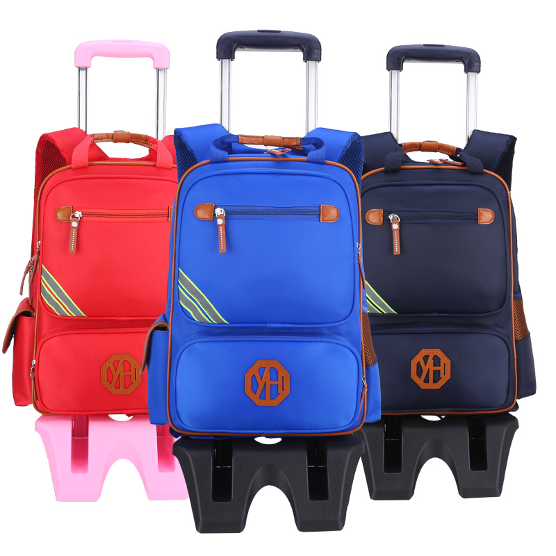 Pupil Bag Trolley Bag Stair Backpack Wheel Bag Waterproof Super Light Protect spine Bag Boys Girl Primary Schoolbag YH829 primary colours pupil s book level 4 primary colours