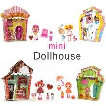 Boxed Mini Lalaloopsy Girls Doll Simulation Doll House Furniture Girls Play  House Scene Toys(China