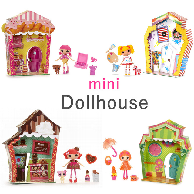 Wonderful Boxed Mini Lalaloopsy Girls Doll Simulation Doll House Furniture Girls Play  House Scene Toys