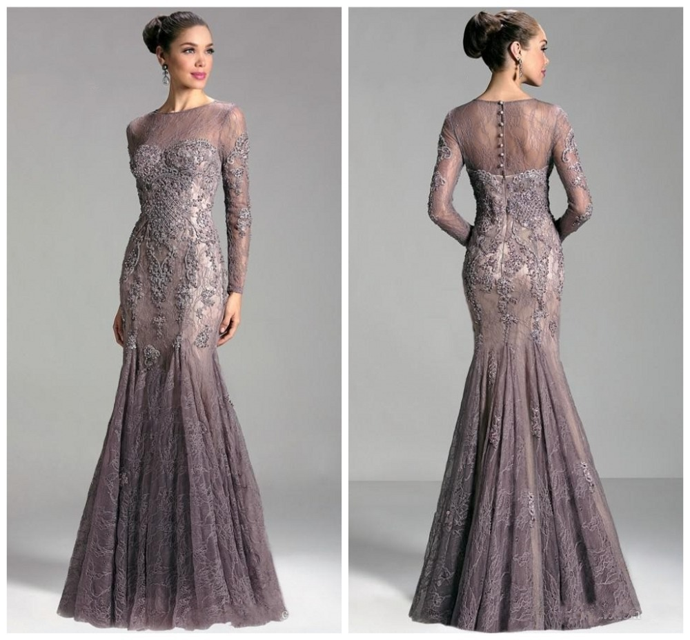 2016 Lace Mermaid Mother Of The Bride Dresses Groom: High Neck See Through Sexy Lace Mother Of The Bride