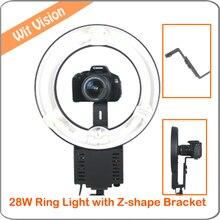 NG-28C 28 W 5400 K Lâmpada Anel de Luz para Iluminação Da Foto do Retrato de Pequenos Objetos com Suporte em Forma de Z