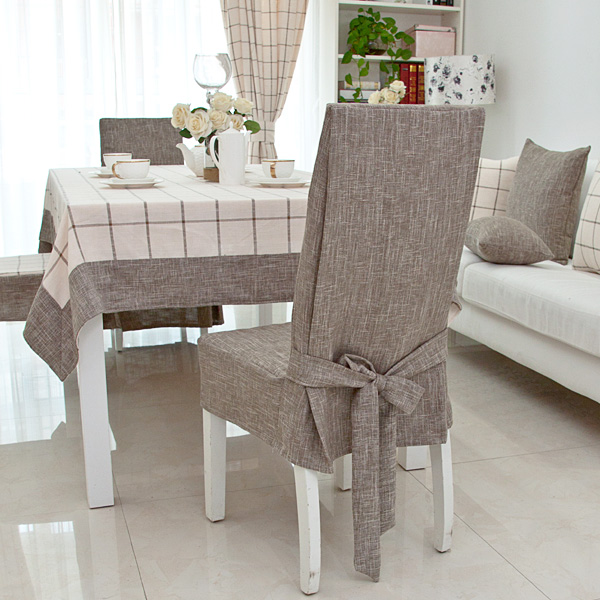 linen chair covers dining room caster kitchen chairs customize cotton cover one piece fashion brief rustic thickening fluid aimi aimy