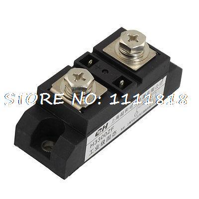 H3300ZF Rectangle 2 Terminals SSR Solid State Relay 3-32VDC/480VAC 300A w Cable 3 32vdc 380vac 200a 2 plug wire ssr solid state relay